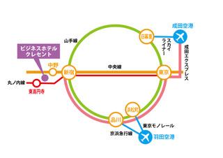 空港からの地図